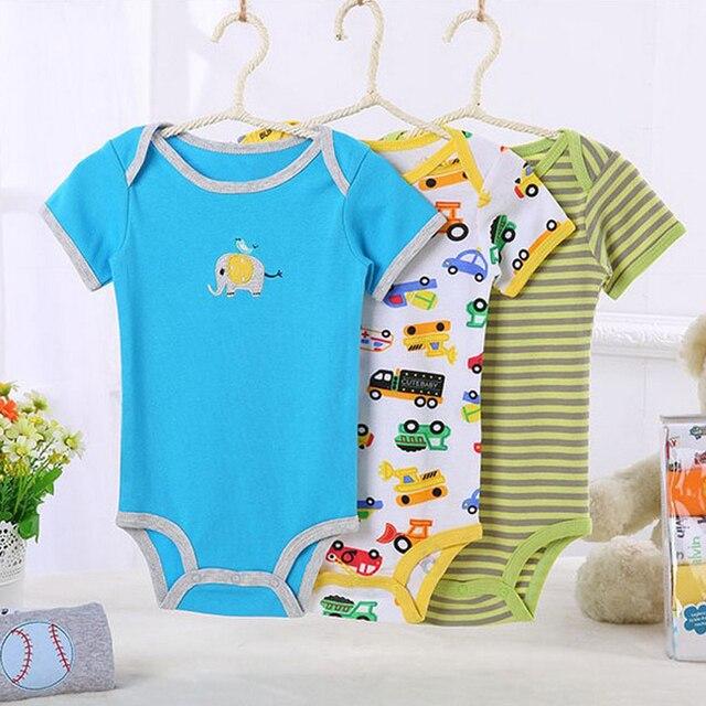 3 \ 4 \ 5 Шт./лот Детские Трико Новорожденных Тела Bebes Хлопок Мальчик Девочка Детская Одежда Infantil Menina Боди Следующая Baby Clothing