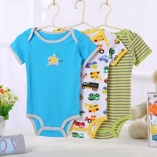 3 \ 4 \ 5 pçs/lote corpo bodysuits do bebê recém-nascido de algodão da menina do menino roupa do bebê infantil bebes de menina bodysuit próxima baby clothing