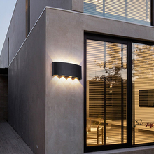 LED Wall Light Outdoor Waterproof IP65 Modern Nordic style Indoor Wall Lamps Living Room Porch Garden Lamp AC90-260V 2W4W6W8W