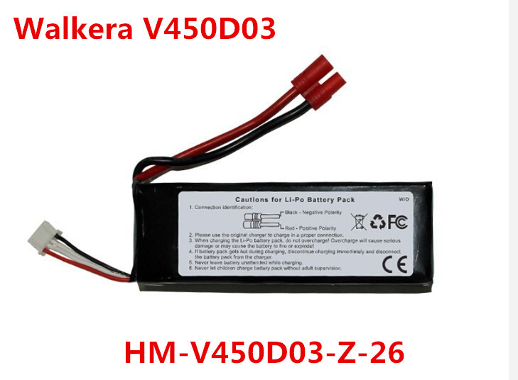 все цены на (in stock) Free Shipping original Walkera V450d03 battery HM-V450D03-Z-26 original Walkera V450D03 Parts онлайн