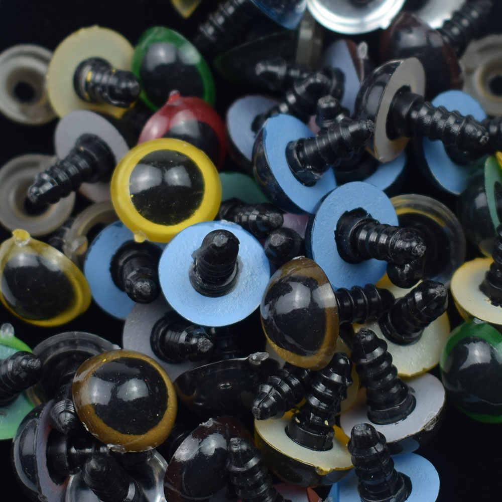 10 PCS Olhos de Segurança Dos Brinquedos de Plástico Botões para Childern Teddy Bear Doll Animal Puppet Craft Olhos Arregalados Usado Acessórios Da Boneca