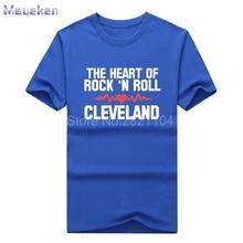 The Heart of Rock 'N Roll Shirt brown Myles Garrett Draft Day t shirt Mens gift T-shirts for  fans 0429-2