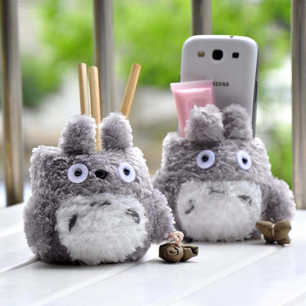 Totoro Plush Pen Holders Grid Pen Container Stationery Desk Accessories Organizer Office&school Supplies 01204