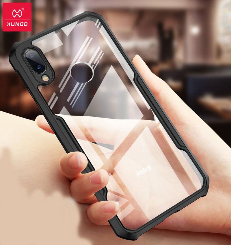 XUNDD Shockproof Case For Xiaomi Redmi Note 7 Airbag Cover Transparent PC Back Cover for Redmi Note 7 Pro funda TPU BumperXUNDD Shockproof Case For Xiaomi Redmi Note 7 Airbag Cover Transparent PC Back Cover for Redmi Note 7 Pro funda TPU Bumper