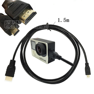 Image 5 - HDMI Cable video cables gold plated 1080P 3D Cable for HDTV GoPro Hero 7/6/5/4/3+ SJCAM SJ4000 YI SONY Action Camera Accessories