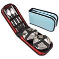 Нержавеющая сталь открытый набор посуды ложки вилки travel kit набор для пикника одноместный двухместный посуда набор поставки