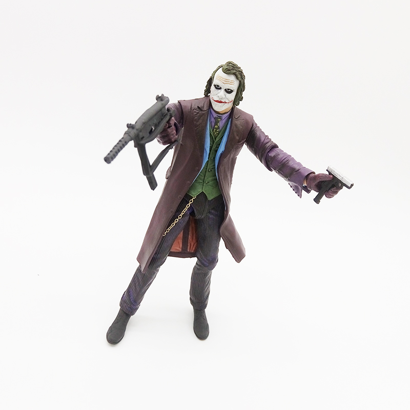 6 Joker Figma 1966 dark knight MAFEX heath ledger gun bag Suicide Squad batman harley PVC action Figures Collectible model Toy toys rocka batman the dark knight joker pvc action figure collectible model toy eyes can move 14cm