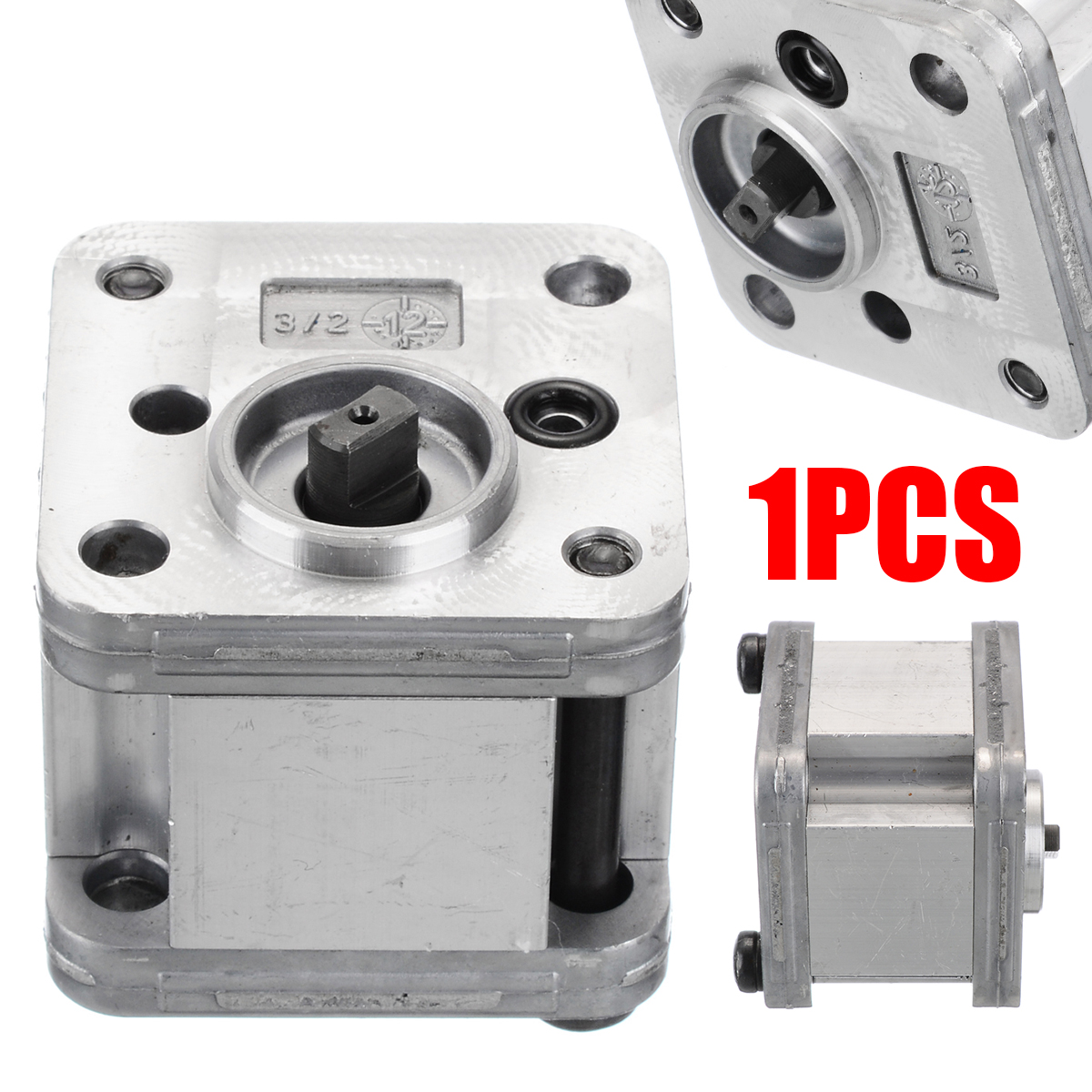 1Pcs Hydraulic Gear Pump Metal Gear Pump Hydraulic Model Excavating Machinery High Quality For Home Tools