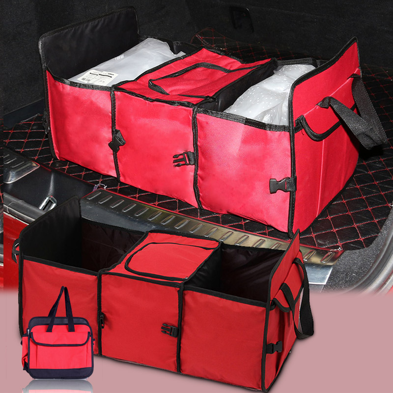 DINIWELL Foldable Multi Compartment Stofbilvogn Van SUV - Hjem opbevaring og organisation