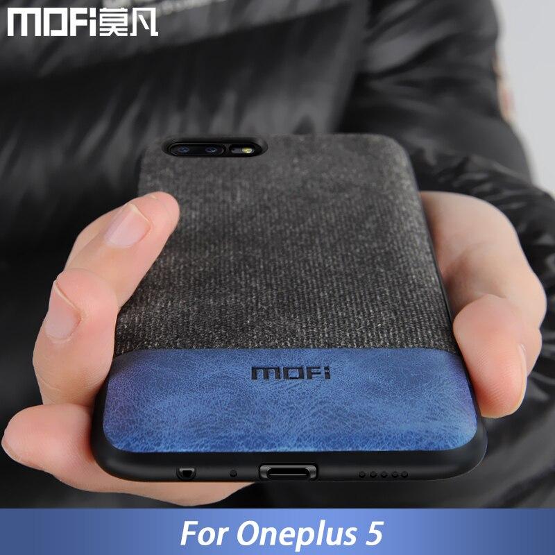 Oneplus 5 caso uno más 5 cubierta de silicona borde de los hombres de negocios de tela a prueba de golpes caso coque MOFi original oneplus 5 caso