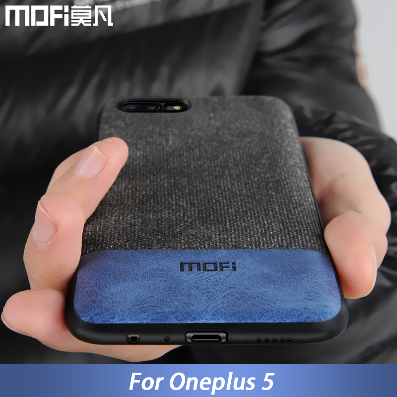 foto ufficiali 41e0b 6d229 US $8.69 13% OFF|oneplus 5 case cover one plus 5 back cover silicone edge  men business fabric shockproof case coque MOFi original oneplus5 case-in ...