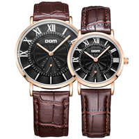 DOM lovers couple watches luxury brand waterproof style quartz leather watch M 3211+G 3211
