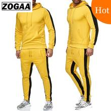 ZOGAA Brand Mens Gyms Casual Tracksuit Two Piece Sets Fitness Men Sweat Suit 2 Pieces Tops And Pants Set For Male Outfits