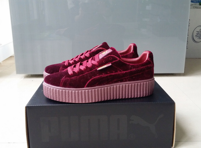 Free shipping Puma by Rihanna Suede Creepers women s and men shoes  Breathable Badminton Shoes Sneakers size dd7a12f57