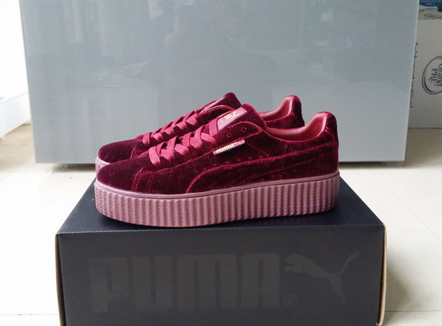 Free shipping Puma by Rihanna Suede Creepers women s and men shoes  Breathable Badminton Shoes Sneakers size 36-44 8c601e932
