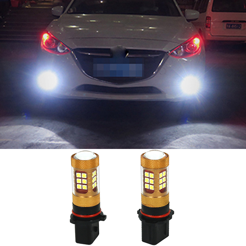 For Mazda CX-5 2013 Chevrolet Camaro Toyota Highlander Peugeot 508 Audi A4 B8 LED P13W Projector Fog Lamp Daytime Running Light ...