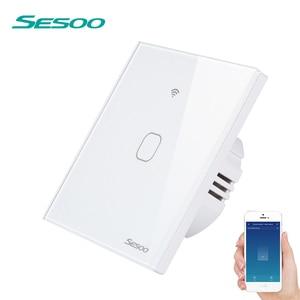 Image 1 - Sesoo Wifi Smart Muur Lichtschakelaar 1 Gang App Remote Smart Home Muur Touch Switch Werkt Met Alexa/google Thuis