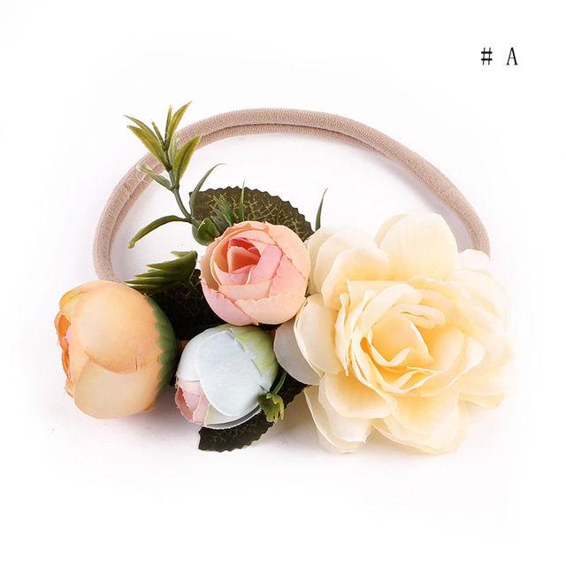 2017 New Kids Girl Baby Toddler Infant Flower Headband Hair Band Headwear Accessories Party Wear Flower Headband 2