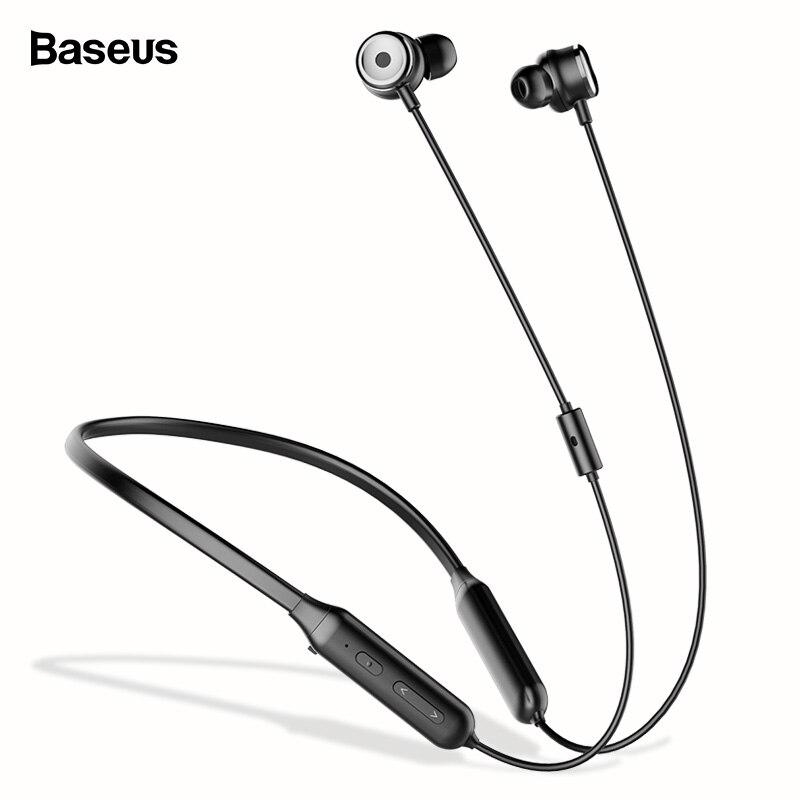 Baseus S15 Active Noise Cancelling Auricolare Bluetooth Auricolare ANC Sport Neckband Cuffie Senza Fili Con Il Mic Per il iphone Samsung
