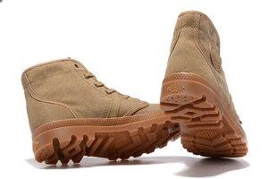 Image 3 - Bottines en PALLADIUM Pampa Hi Work pour hommes, baskets, chaussures de marche, qualité supérieure, décontracté toile, à lacets, tailles 39 à 45, décontracté