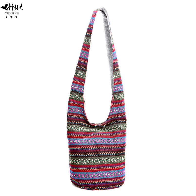 Bohemian Women Shoulder Crossbody Bag Gypsy Hobo Hippie Bucket Messenger Cross Body Handmade Hipster Thai Top Bags
