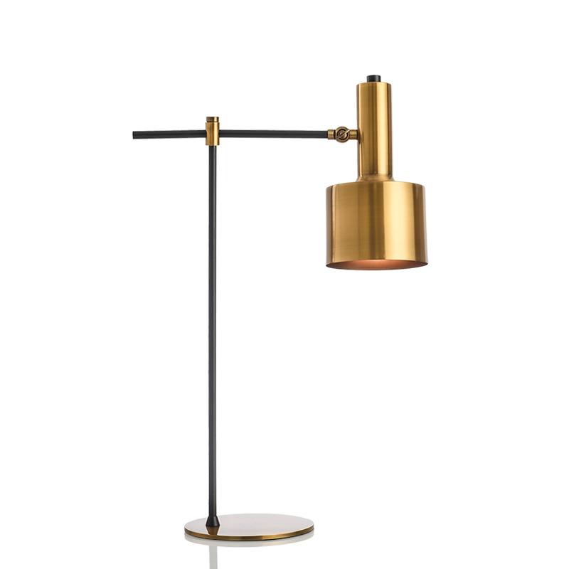Led Table Lamp Gold Metal 110 220v Desk Lamp Plated Finish