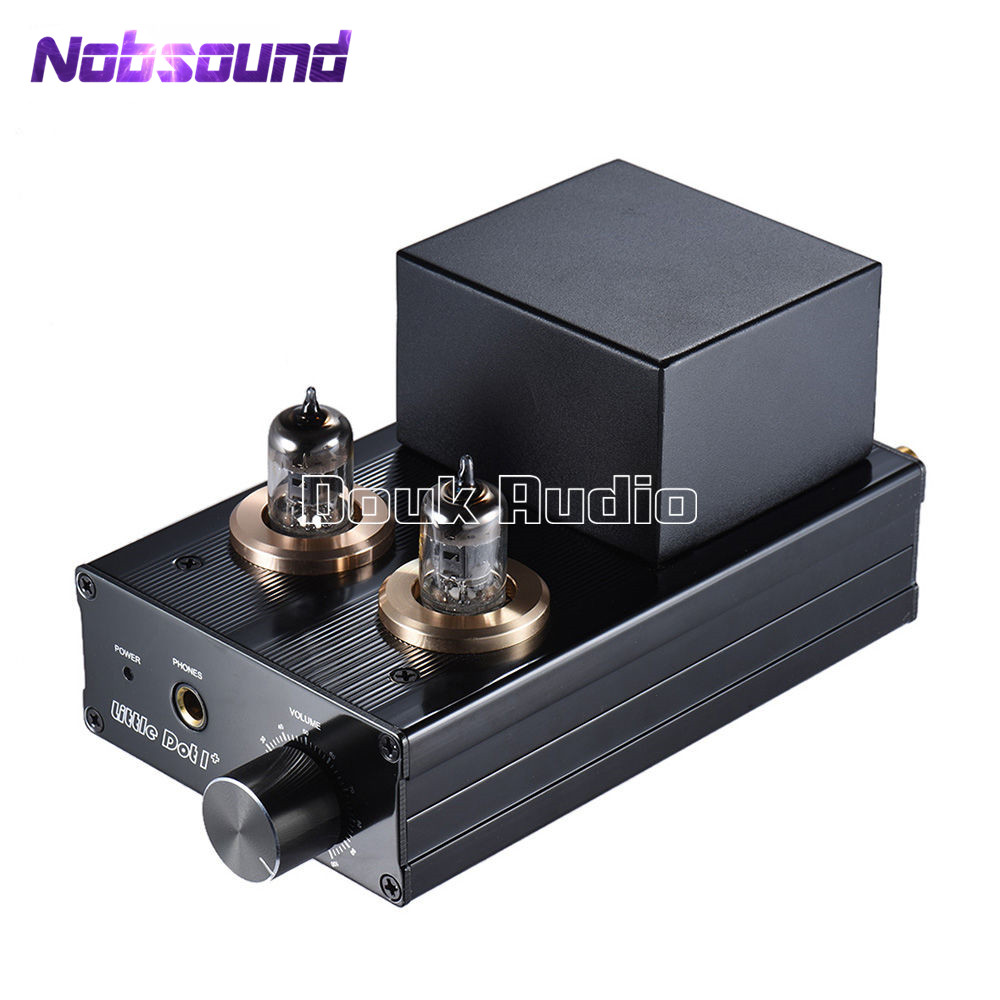 US $112 5 25% OFF|Nobsound Little Dot I+ Hybrid 6J1 Vacuum Tube Amplifier  Solid State Headset HiFi Stereo Headphone Amp-in Amplifier from Consumer