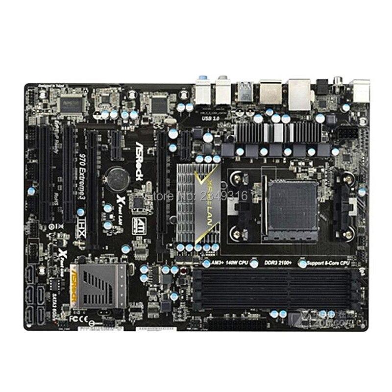 アスロックため 970 Extreme3 中古オリジナルデスクトップ amd の 970 マザーボードソケット AM3 AM3 + DDR3 SATA3 USB3.0 -