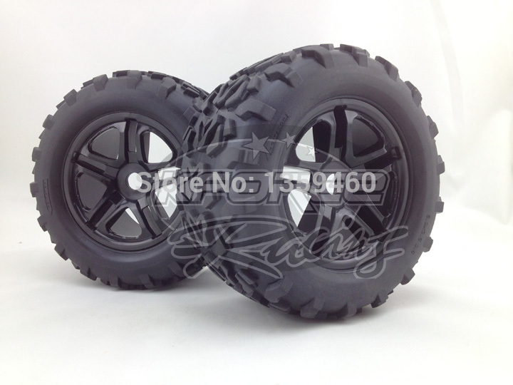 Pre Glued 4Pcs 1 8 Monster Truck Wheels Tire Set Tyre For HPI T MAXX 3