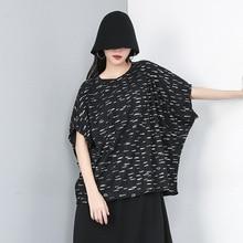 цены Women Summer Streetwear Hip Hop Punk Gothic Print T Shirt Female Fashion Bat Short Sleeve Oversized Loose Casual Tshirt Tops