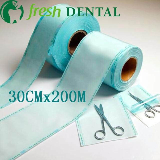 Dental 30 CM * 200 metros sacos esterilizados desinfecção desinfecção volume flat heat-sealed saco esterilizado SL-CS1135 consumo de filmes