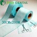 Dental 30 CM * 200 metros volumen plana termosellado bolsas de desinfección desinfección estéril consumo de películas bolsa esterilizada SL-CS1135