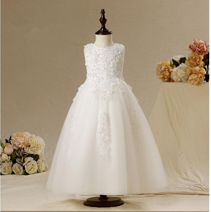 ФОТО Multi-color customization vestidos de comunion Lace Holy Communion Dresses Ankle-Length Pageant Dresses for Little Girls