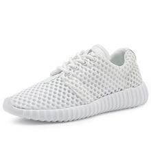 Женская Повседневная обувь Летняя сетки воздуха модная женская обувь Легкий Zapatos Mujer белый