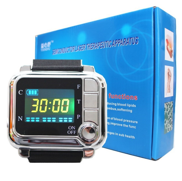 CE NEW 650nm Laser brand Therapy massage Wrist Diode Laser watch Semiconductor Diabetes Laser sinusitis Therapeutic apparatus