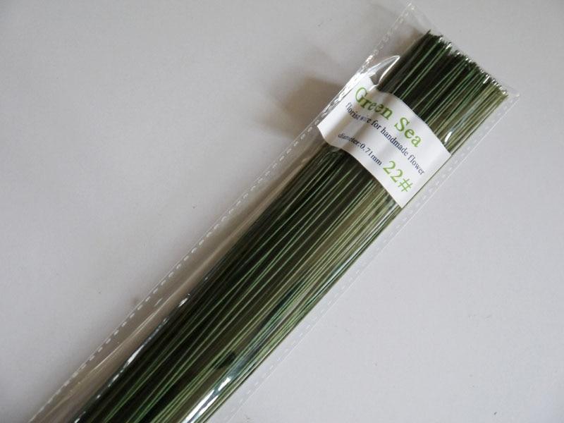 22 gauge grünen papier bedeckt draht fondant kuchen zubehör draht ...