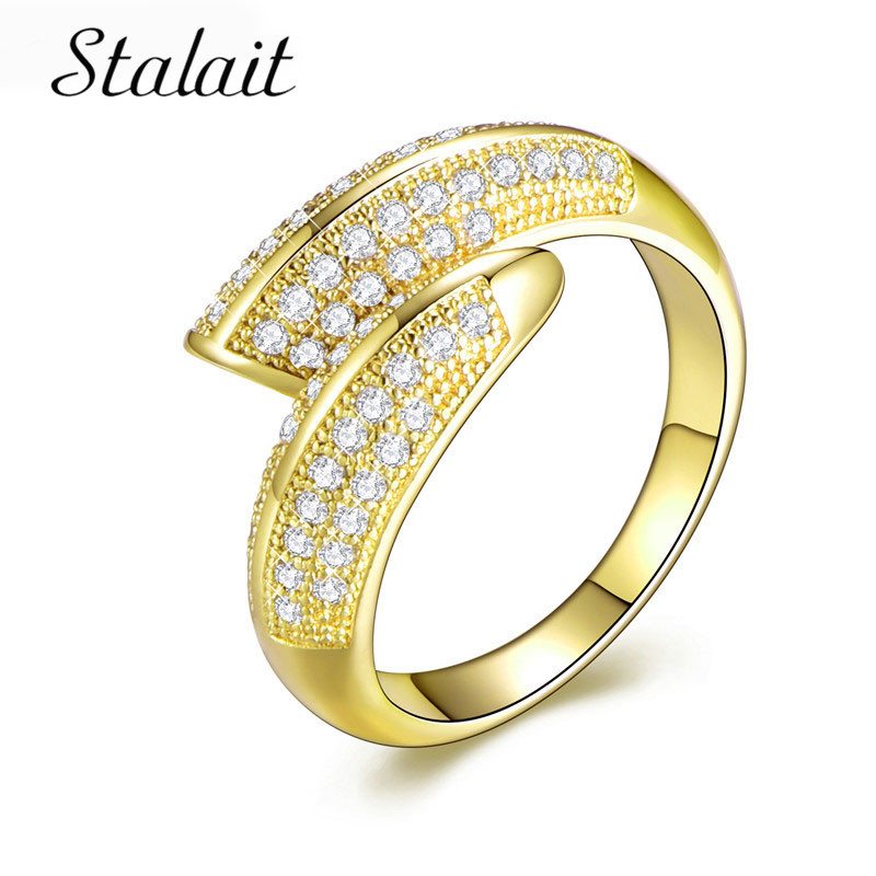 Brand Gold Color Jewelry For Women Lovers' Wedding Two Color <font><b>Ring</b></font> Gold Screw <font><b>Carter</b></font> <font><b>LOVE</b></font> <font><b>Rings</b></font> Top Quality image