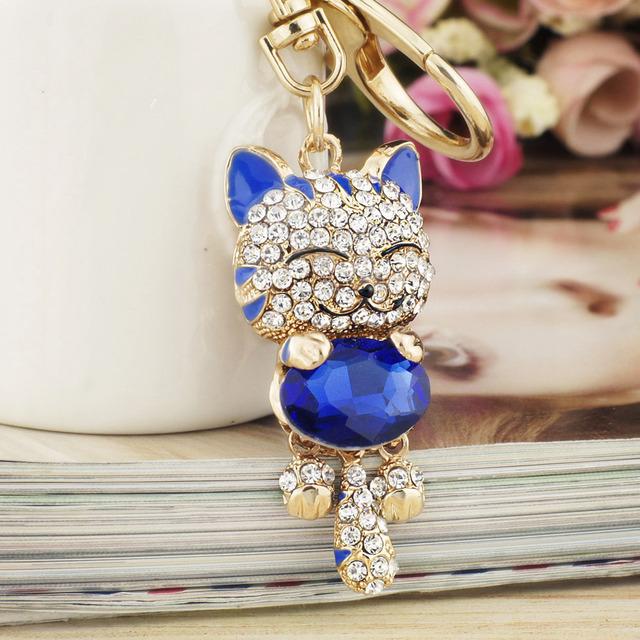 Prívesok LUCKY CAT na kľúče 6farieb Key Chains Animal 6colors