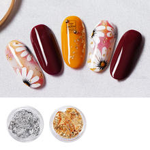 Beautiful 3D Decoration Nail Sticker Real Dry Dried Flower For UV Gel Acrylic Nail Art Tips Nail Stickers Decal 12 colors box 3d real dried dry flower rhinestone storage box nail art decoration uv gel polish stickers manicure tips decals