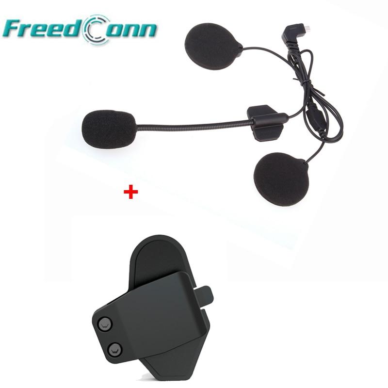 Headset Microphone Mic & Bracket Mount Clamp Clip For FreedConn T-MAX Helmet Bluetooth Intercom For Open Face/Half/Flip Helmet