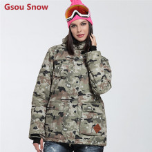 Gsou Snow Ladies snowboard jackets women winter ski suit female veste ski femme giacca da sci donna ski clothing jas vrouwen