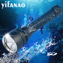 40000LM Diving For Flashlight Torch 5xT6 Scuba Dive torch 200M Underwater Waterproof Tactical led Flashlights Lantern lamp 10000 lumens stepless dimming torch 5 x l2 t6diving led flashlight 200m underwater waterproof torch tactical flashlight lantern