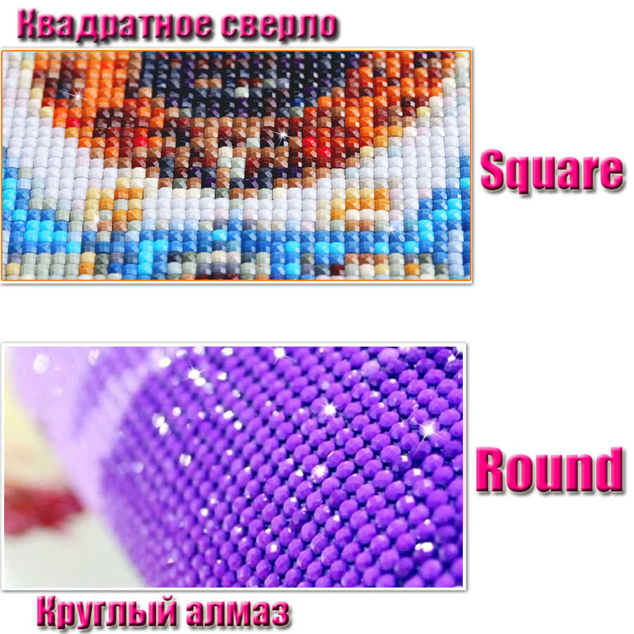 Kit de point de croix à broderie diamant, peinture au diamant en bricolage, Vase de fleur à la lavande violette, mosaïque en cristal d'image,