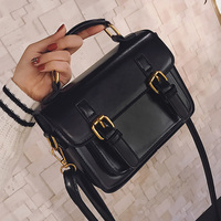 Korean New Women Vintage PU Small Handbag High Quality Retro Women Messenger Bags England Style Leather
