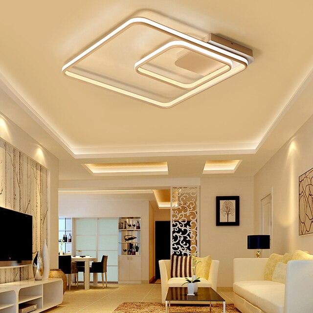 NEO Gleam Platz Ringe Wohnzimmer Schlafzimmer Arbeitszimmer  Led Deckenleuchten Moderne Led Doppel Glow Aluminium Deckenleuchte