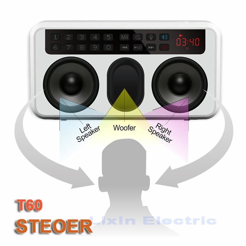 RoltonT60 MP3-afspiller Mini bærbare lydhøjttalere 2.1 FM-radio med - Bærbar lyd og video - Foto 4