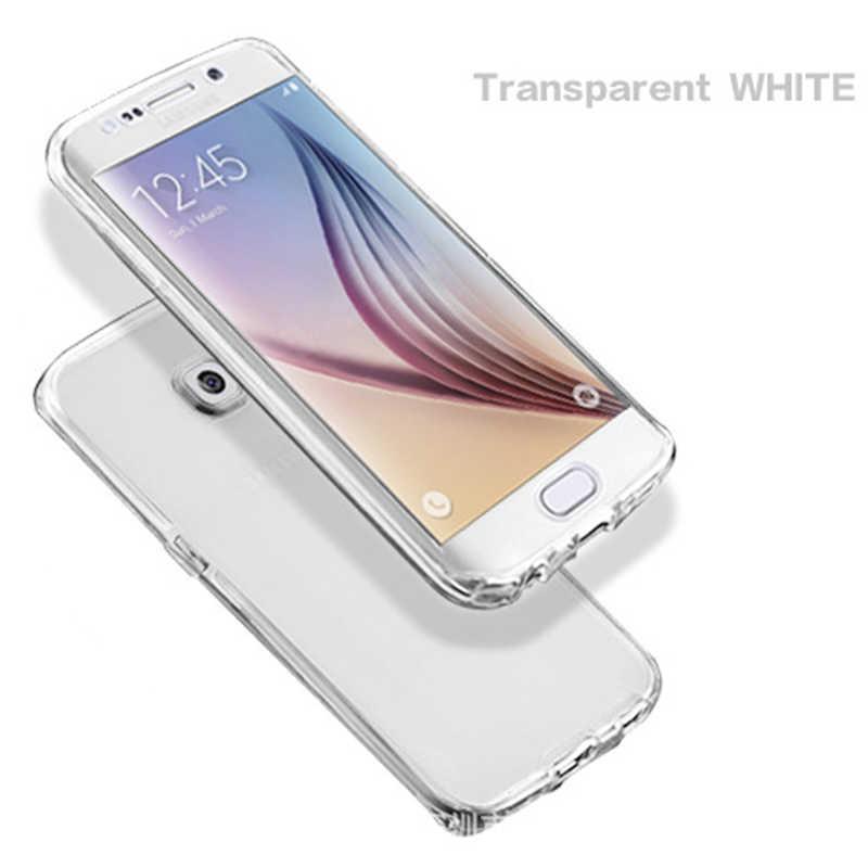 Jelas Lembut Silicone Ponsel Case untuk Samsung Galaxy S3 S4 S5 S6 S7 Edge S8 S9 Plus Note 3 4 5 8 Grand Core Prime Full Cover
