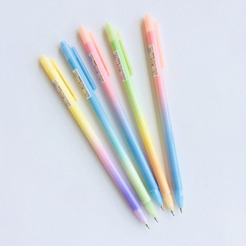 3X Simple Slim Gradient Ball Ballpoint Pen  School Office Stationery 0.5mm