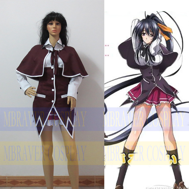 Free Shipping Cosplay Costume Anime High School DxD Rias Gremory ...