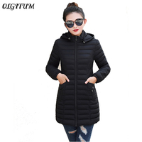 L 6X Korean Version of the Women Long Parka Coat 2019 Winter Warm New Slim Waist Fashion Thin Section Plus Size Down Jacket Coat